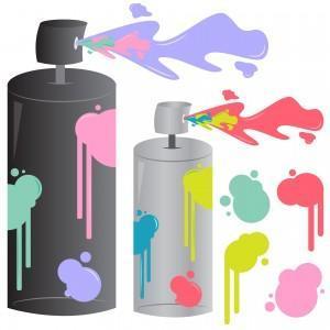 Colore ad olio,bomole spray
