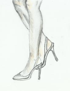 gambe con scarpe