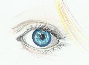 disegna a mano libera occhio a colori