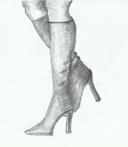 disegna le gambe con stivali