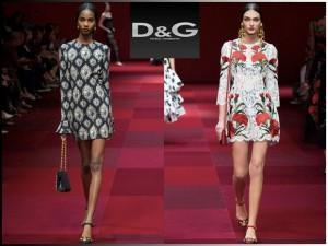 abiti con stampe Dolce & Gabbana