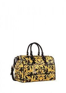 borsa bauletto con disegno arabesco Versace