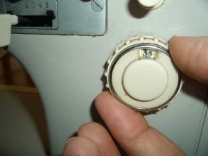 particolare macchina da cucire regolapunto
