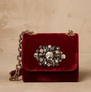 pochette di velluto rosso Dolce & Gabbana