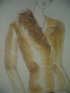 particolare pelliccia rifinita