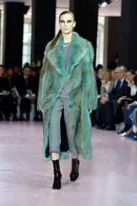 paelliccia verde Dior