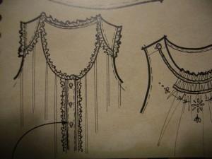 scheda presenta il particolare di un abito