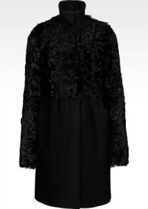 Armani cappotto e pelliccia