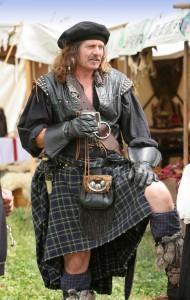 Highlander in Kilt, gonna Scozzese