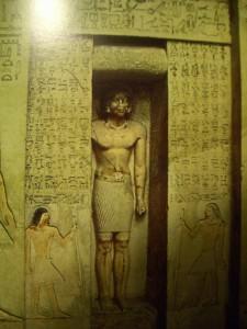 Saqqara defunto finta porta tomba Itet 2300 a.C. Museo Egizio Cairo