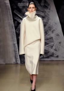 abito bianco di Jil Sander