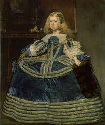 dipinto Diego Velázquez, L'infanta Margherita in abito azzurro, 1659