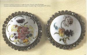 Museo dei bottoni maiolica tedesca smaltata 1800