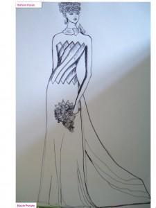 abito sposa figurino