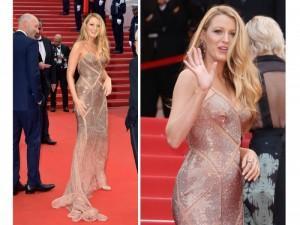 Blake Lively con abito Versace