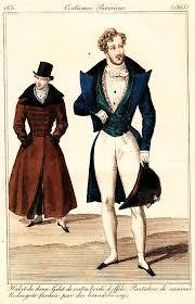 abbigliamento maschile intorno al 1800