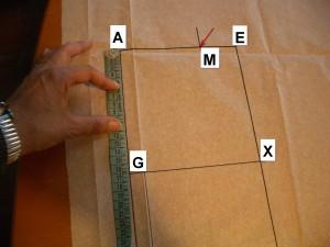misuro A-G e divido in 3 parti
