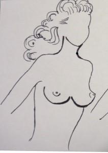 Il corpo stretto con un piccolo petto