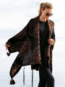 enorme foulard lana multicolore