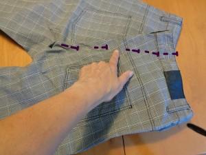 pantalone puntato con spilli