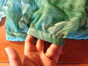 rifinitura semplice per una manica