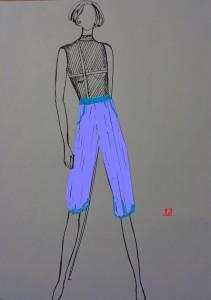 pantaloni alla zuava