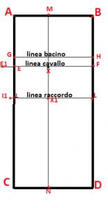 schema delle linee e punti trovati