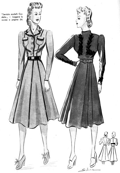 Favoloso Moda anni 40 - Alla scoperta del Look e dello Stile anni 40 ZW02