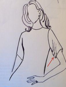 pieghe con il colmo manica basso