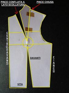 Schema cartamodello abito 1