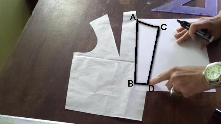 schema per creare il cartamodello jabot