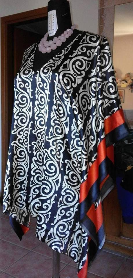 Camicetta poncio in seta