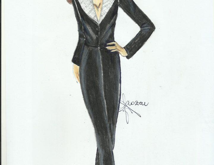 Tailleur capo di abbigliamento elegante