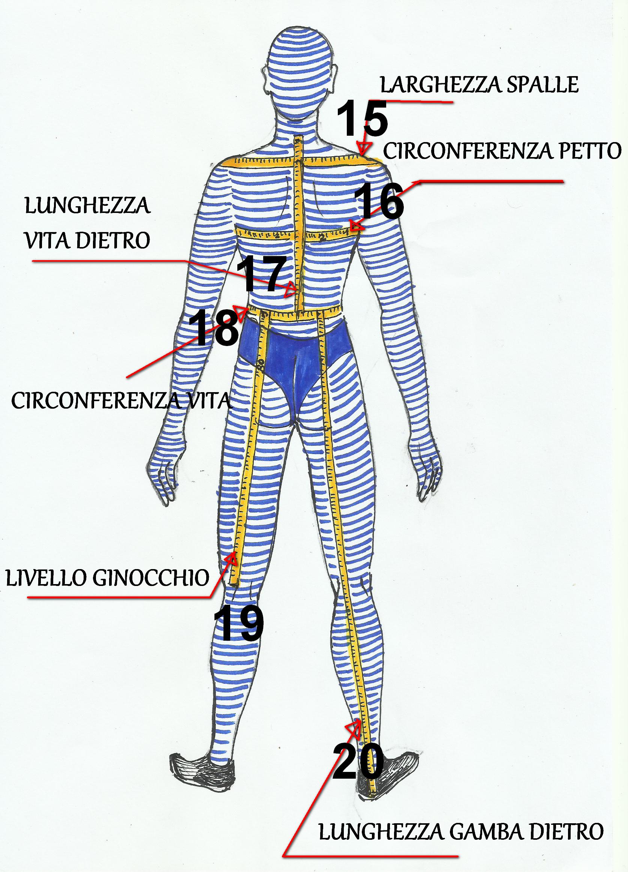 Figura stilizzata per tabelle taglie