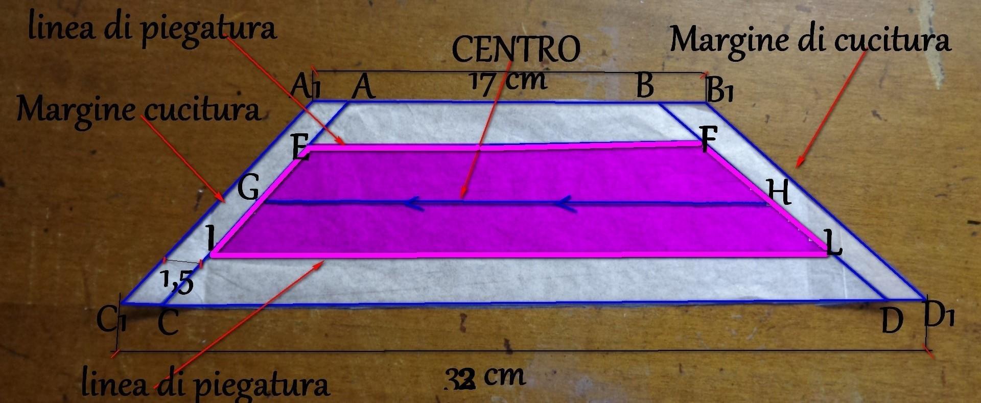 2° pezzo cravatta parte più sottile