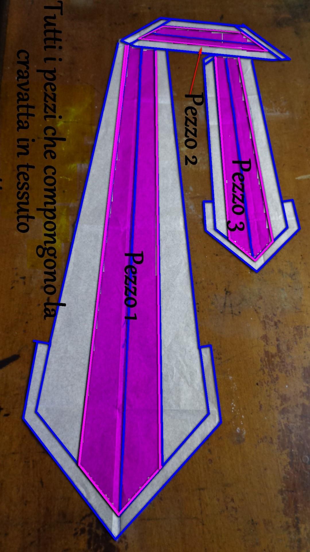 Cartamodello intero della cravatta classica