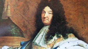 Re Sole particolare quadro olio su tela custodito a Louvre di Parigi