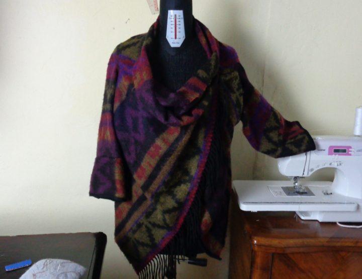 Mantella giacca, ricavata da una sciarpa